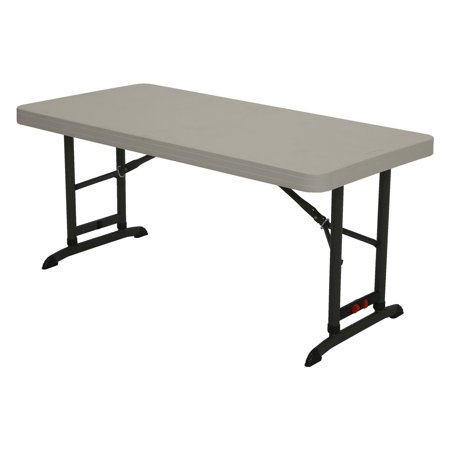 Lifetime Products 4 ft. Commercial Adjustable Folding Table, 80387 (Adjustable Chair Table)