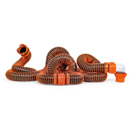 Camco Sewer Hose (Camco RhinoEXTREME 20ft RV Sewer Hose Kit, Includes Swivel Fitting and Translucent Elbow with 4-In-1 Dump Station Fitting, Crush Resistant, Storage Caps Included (39867) )