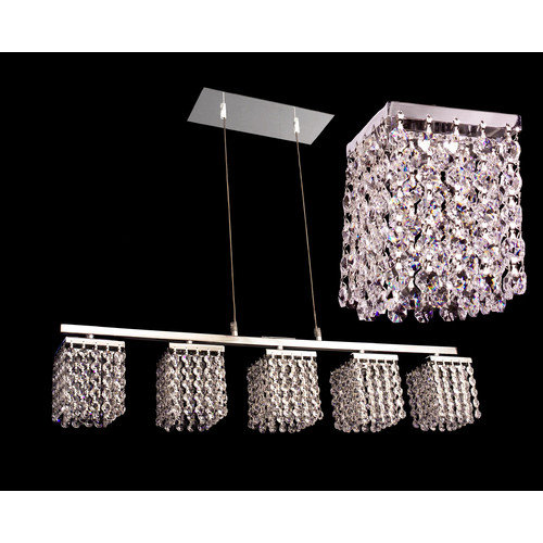 Classic Lighting Bedazzle 5 Light Linear Chandelier