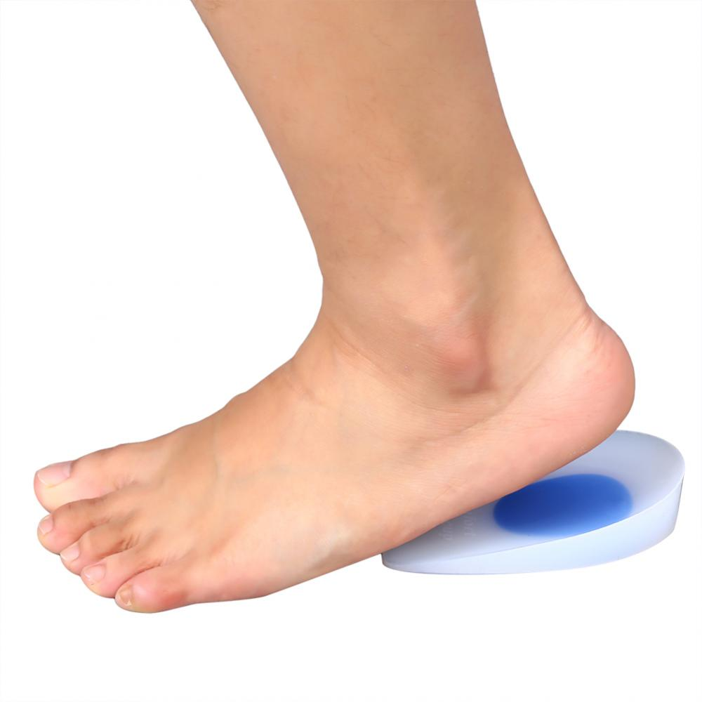 Dilwe 1 Pair Silicon Gel Heel Cup Cushion Plantillas Plantar Pain Relief Insoles Pads, Silicon Gel, Pain Relief Insoles Pads