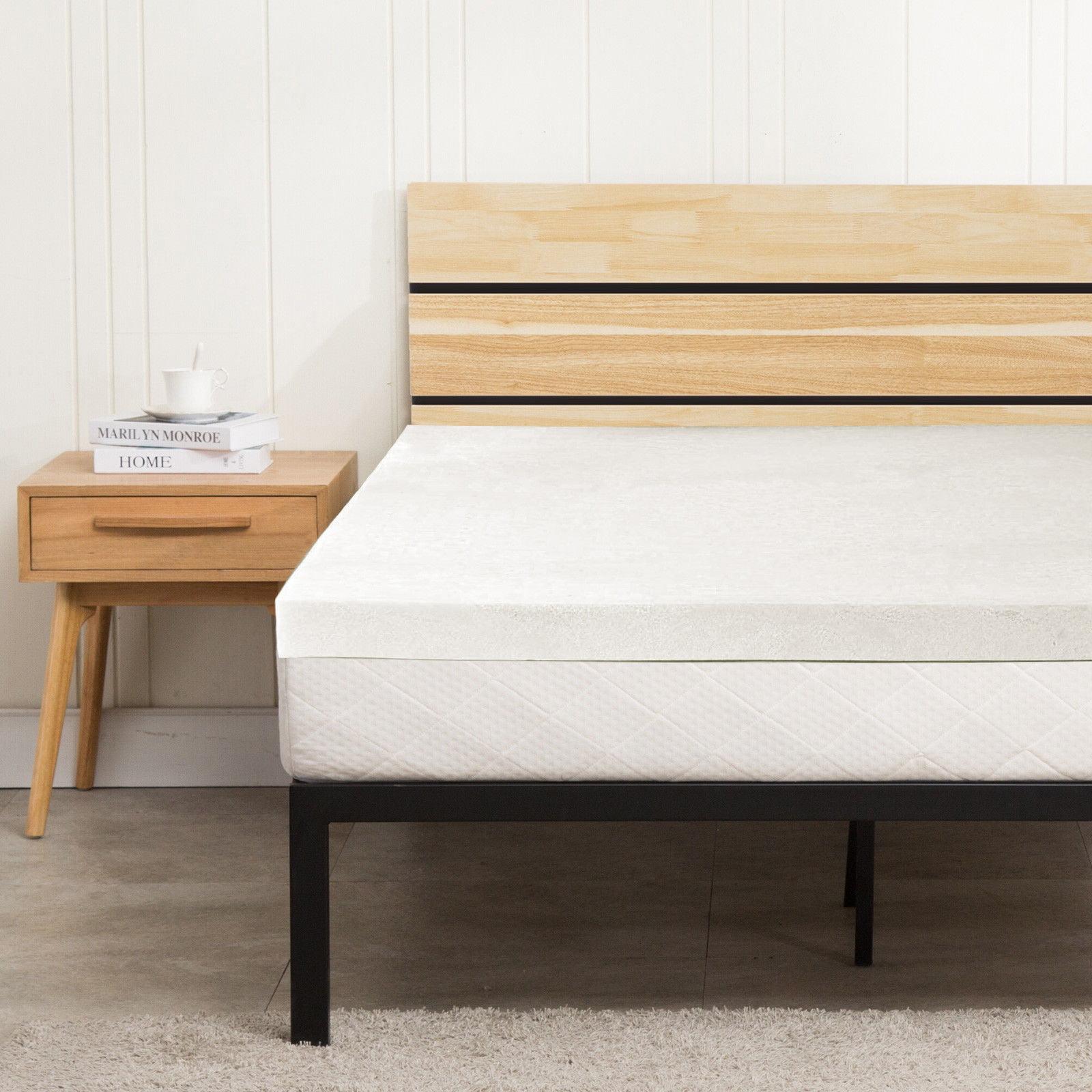 "Ktaxon 3"" Traditional Memory Foam Mattress Topper Twin Size Thick Plush Bed Pad"