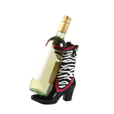 Zebra Wine Bottle - CowGirl Boot Wine Bottle Holder in Zebra Print By Wild Eye