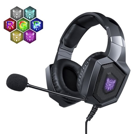 NERDI Gaming Headset for PS4, Xbox One, PC, Mac, Gaming Headphone Stereo Over Ear Bass with Mic