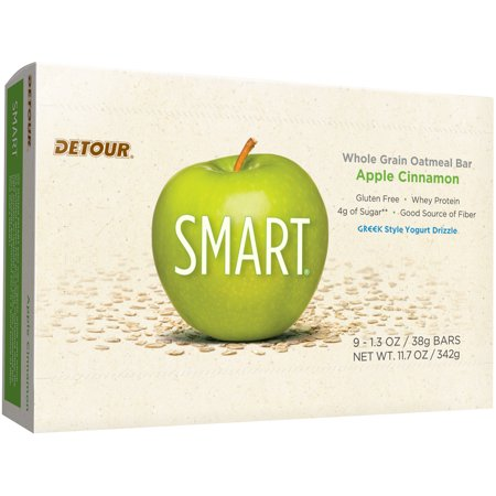 Detour SMART Bar, Apple Cinnamon, 10g Protein, 9
