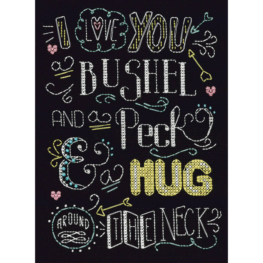 "Bushel And A Peck Counted Cross Stitch Kit, 8"" x 10"", 14-Count"