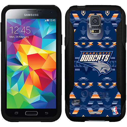 Charlotte Bobcats Tribal Print Design on OtterBox Commuter Series Case for Samsung Galaxy S5