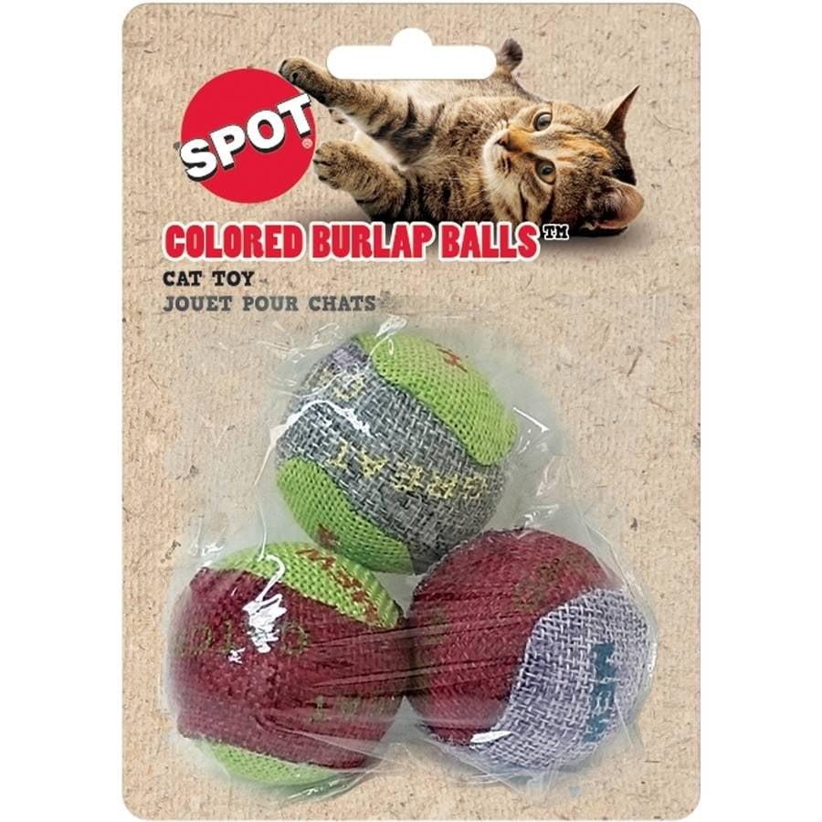 Colored Burlap Balls Cat Toy, Assorted