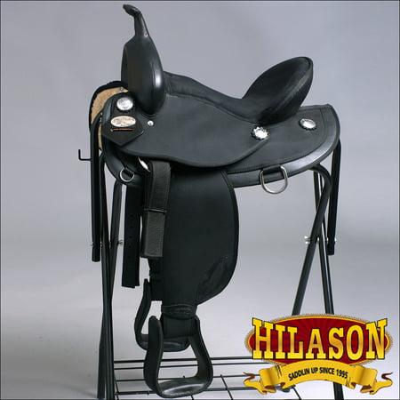 Os118-A Hilason Western Synthetic Trail Pleasure Horse Riding Saddle (Pleasure Horse Saddle)