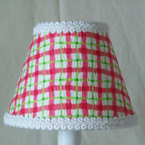 Silly Bear Lighting Cherry Plaid Table Lamp Shade