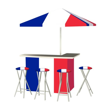 Best of Times Flag of France Portable Outdoor Bar (Best Flag Material For Outside)