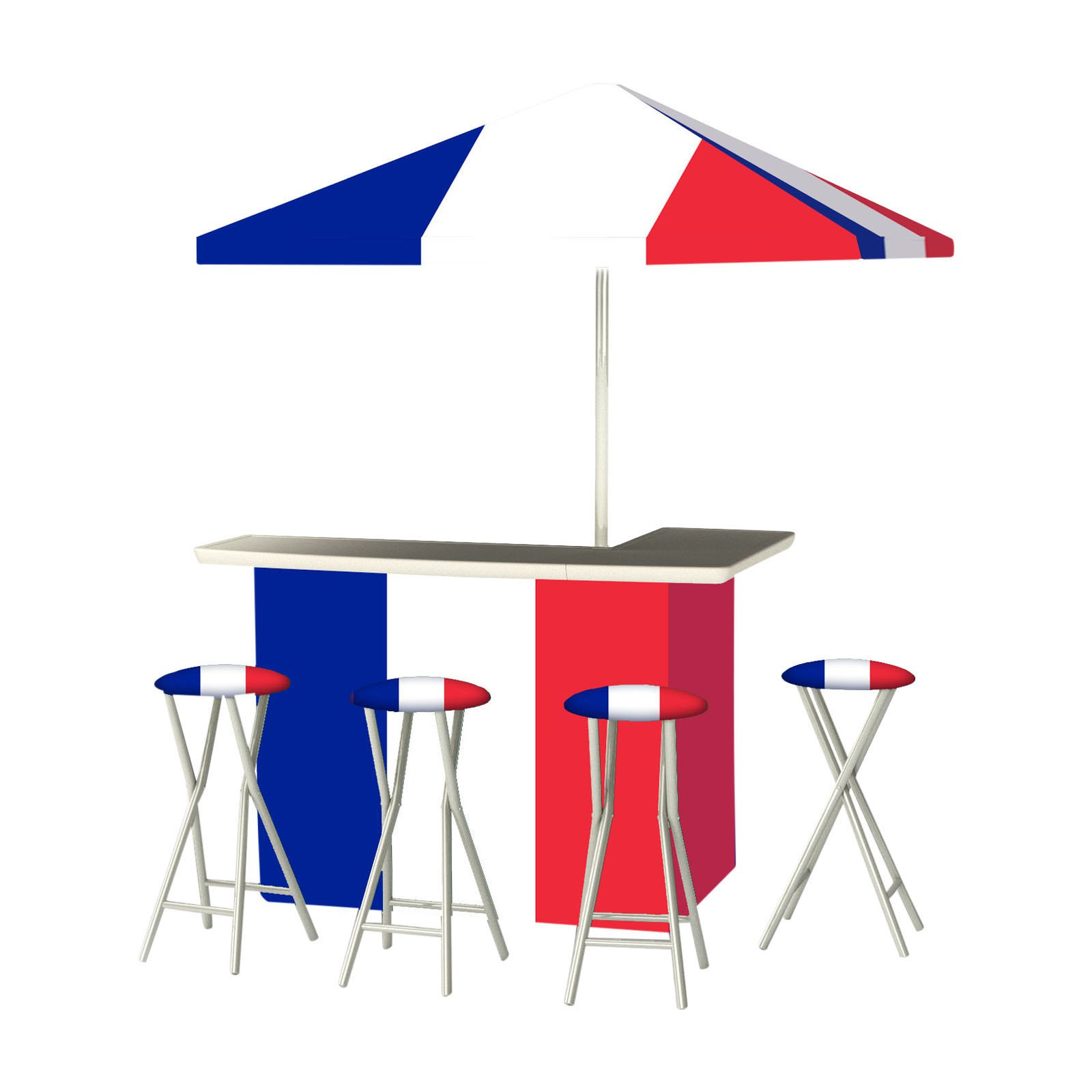 Best of Times Flag of France Portable Outdoor Bar