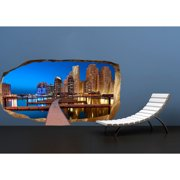 Startonight 3D Mural Wall Art Photo Decor Take a Walk in the City! Amazing Dual View Surprise Wall Mural Wallpaper for Bedroom Urban Wall Paper Art Gift Large 47.24 ?? By 86.61 ??
