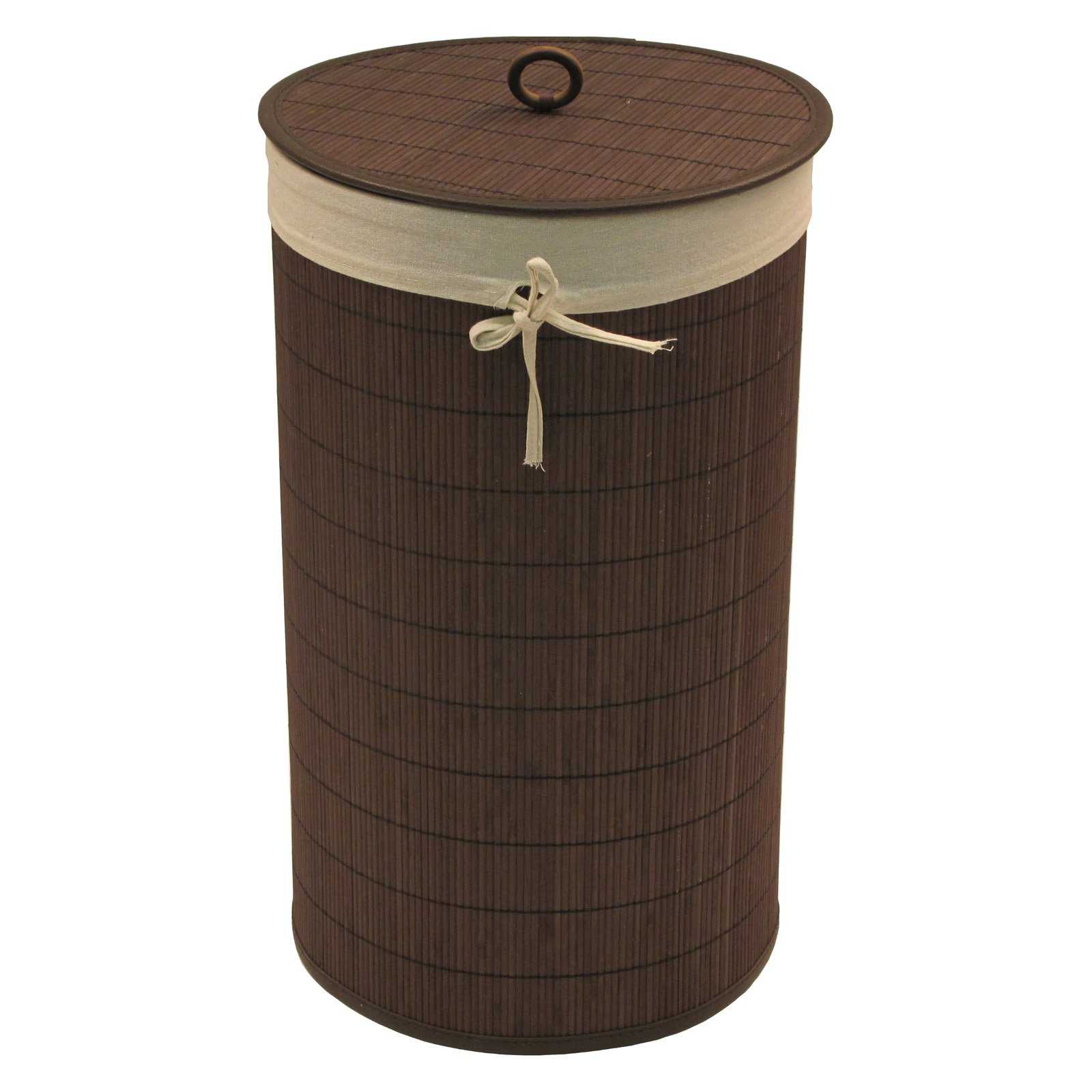 Baby Things Bamboo Hamper with Liner, Espresso