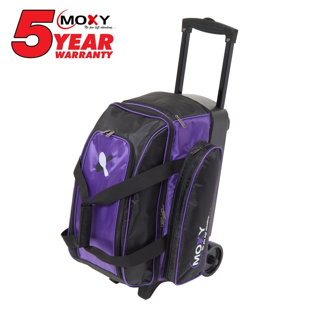 Moxy Double Roller Bowling Bag- Purple/Black