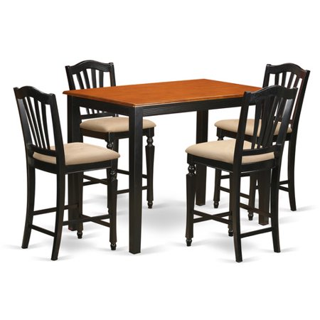 counter height set kitchen dinette table and 4 counter height stool