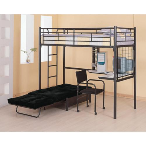 Bunks Twin Loft Bunk Bed With Futon Chair U0026 Desk