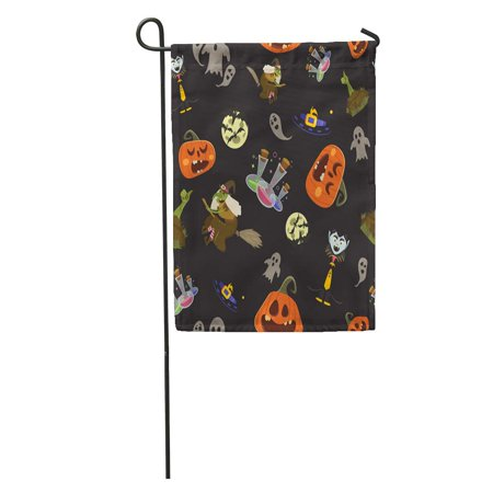 KDAGR Bat Halloween Party All Hallow Eve Repetitive Saints Holiday Garden Flag Decorative Flag House Banner 12x18 inch - History Of All Hallows Eve And Halloween