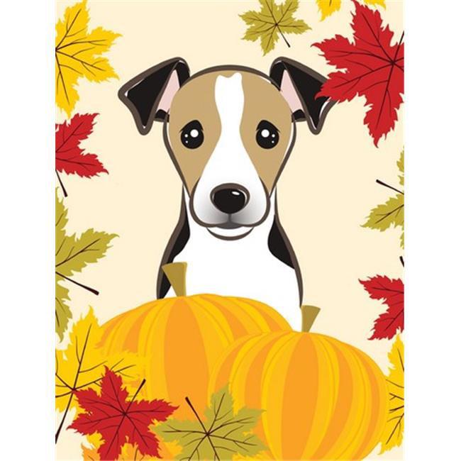Jack Russell Terrier Thanksgiving Flag Garden
