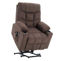 Power Lift Recliner Chair TUV Lift Motor Lounge w/Remote Control Dual USB Charging Ports Cup Holders Fabric Sofa Cloth 7286