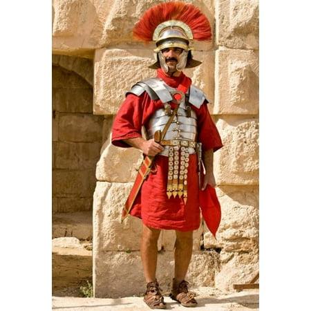 Jordan Jerash Reenactor Roman Soldier Portrait Poster Print By Dave Bartruff