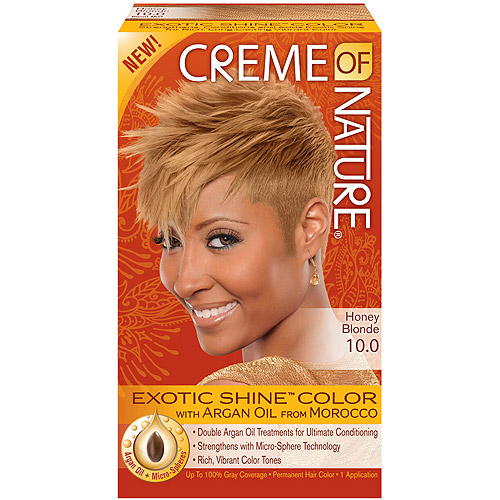 Creme of Nature Exotic Shine Color Hair Color, 10.0 Honey Blonde
