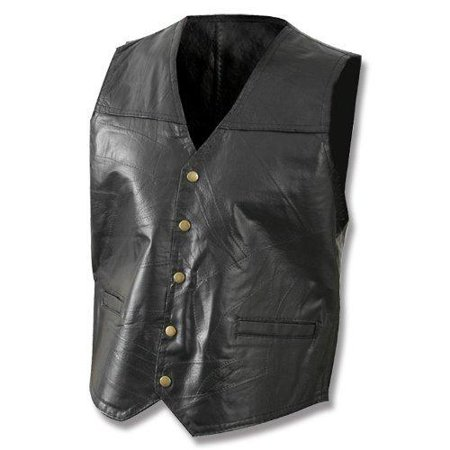 Giovanni Navarre® Italian Stone™ Design Genuine Leather Vest - Large - GFVLARGE