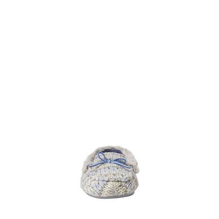 Dearfoams Kids Cozy Fairisle Tie Moccasin Slippers (Toddler, Little Girls & Big Girls)