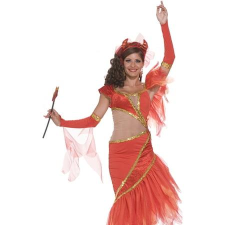 Forum Sexy Salsa Ballroom Dancing Devil Red Dress Costume