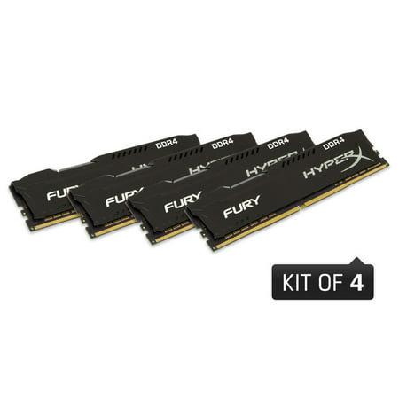 - HyperX FURY Memory Black 16GB 2666MHz DDR4 CL15 DIMM (Kit of 4) HX426C15FBK4/16