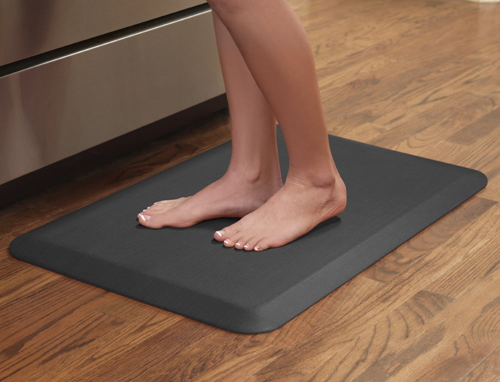 NewLife by GelPro Anti-Fatigue Comfort Mat 20x32 Grasscloth Charcoal
