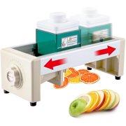 VEVOR Commercial Fruit Slicer Manual Lemon Cutting Machine with V-Shape Blades