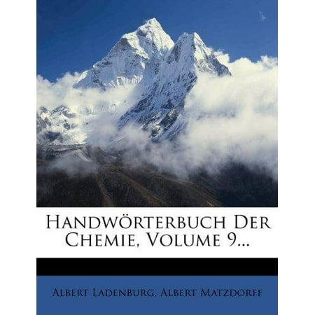 Handworterbuch Der Chemie  Volume 9