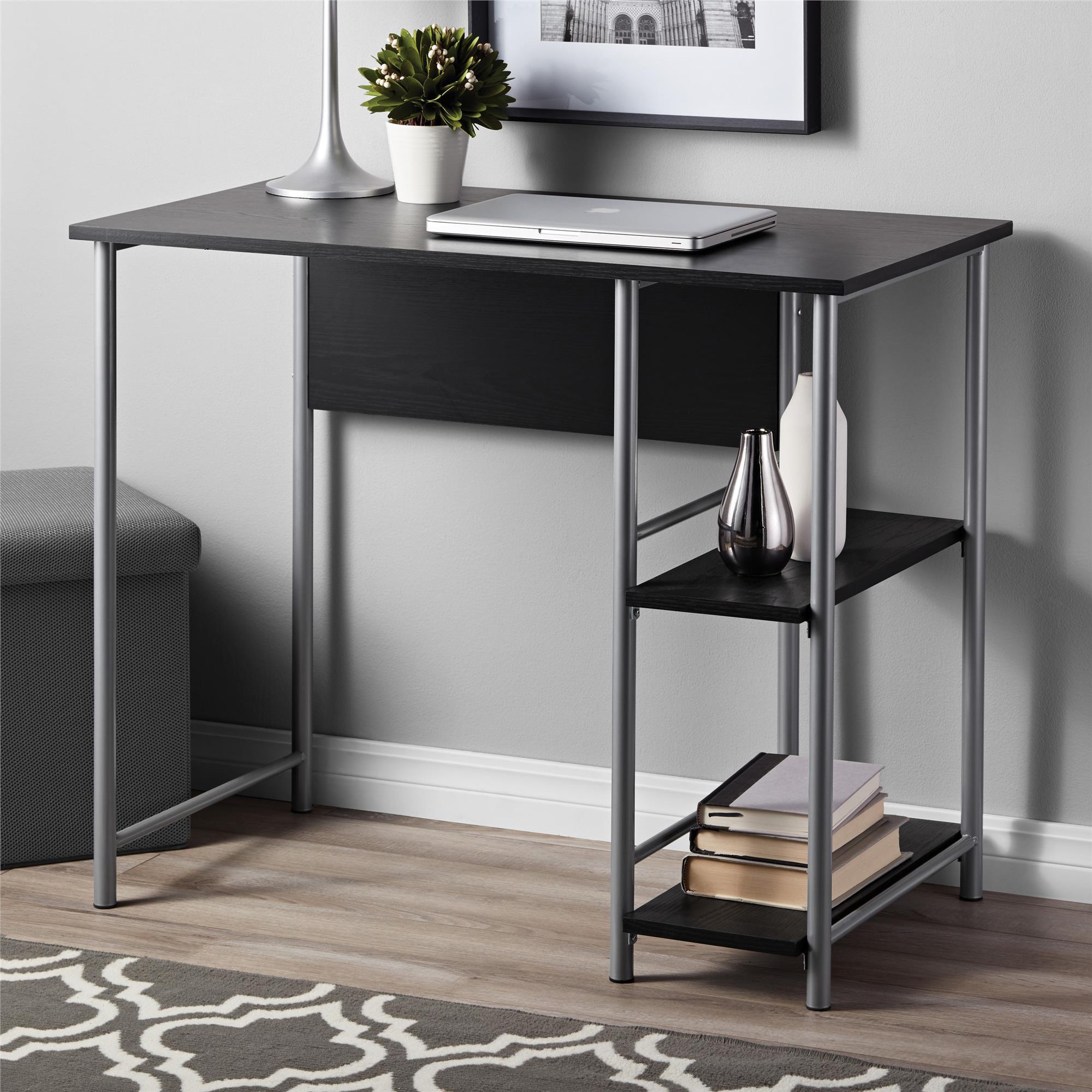 Mainstays Basic Student Desk, Black Oak