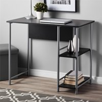 Ameriwood Home Garrett Metal office Desk with 2 side Shelves
