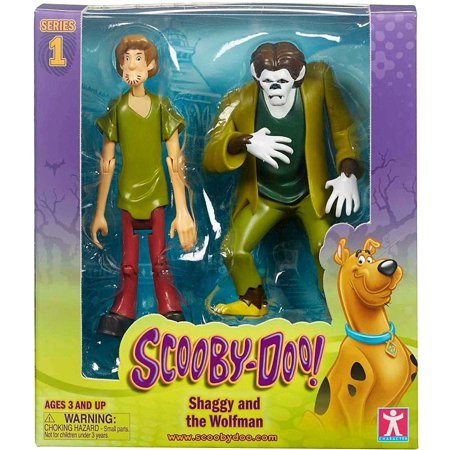 Scooby Doo Series 1 Shaggy & Wolfman Action Figure 2-Pack (Shaggy And Scooby Doo Halloween Costumes)