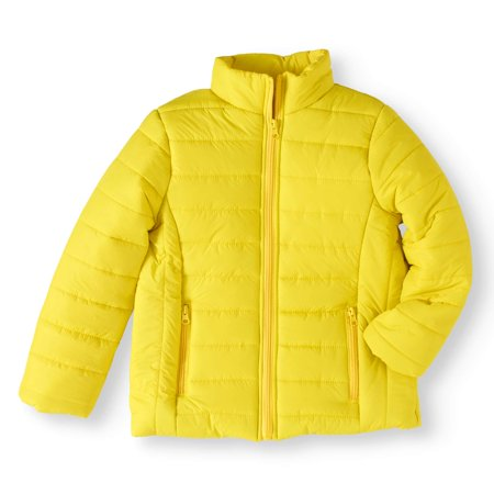 Girls' Zip Up Mock Neck Puffer Jacket