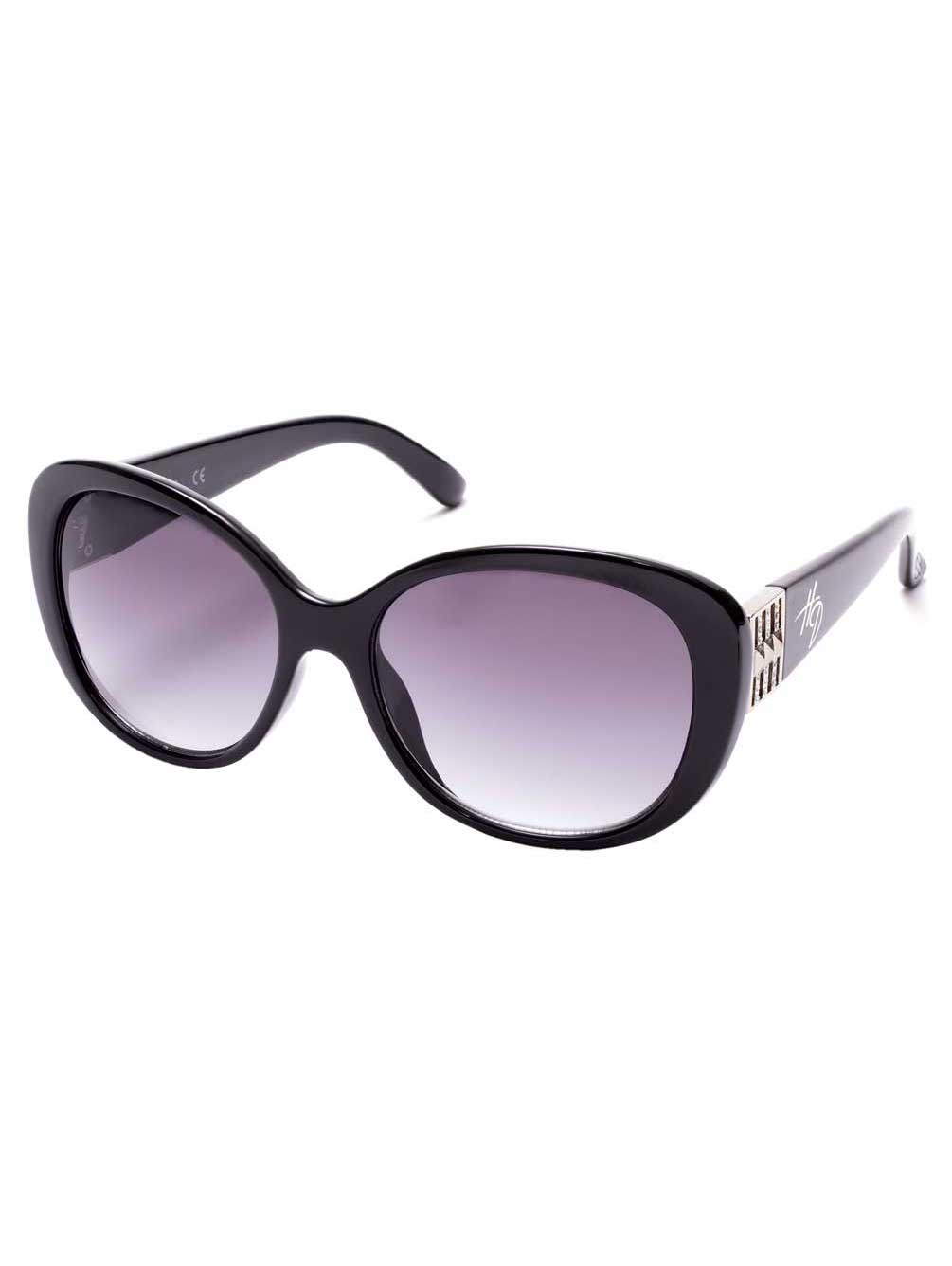 Shiny Black//Smoke Lenses Harley-Davidson Women/'s Oversized Butterfly Sunglasses