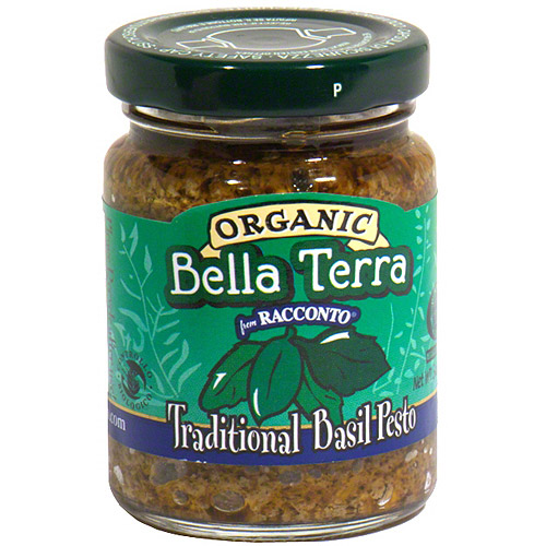 Bella Terra Organic Traditional Basil Pesto, 6.3 oz (Pack of 6)