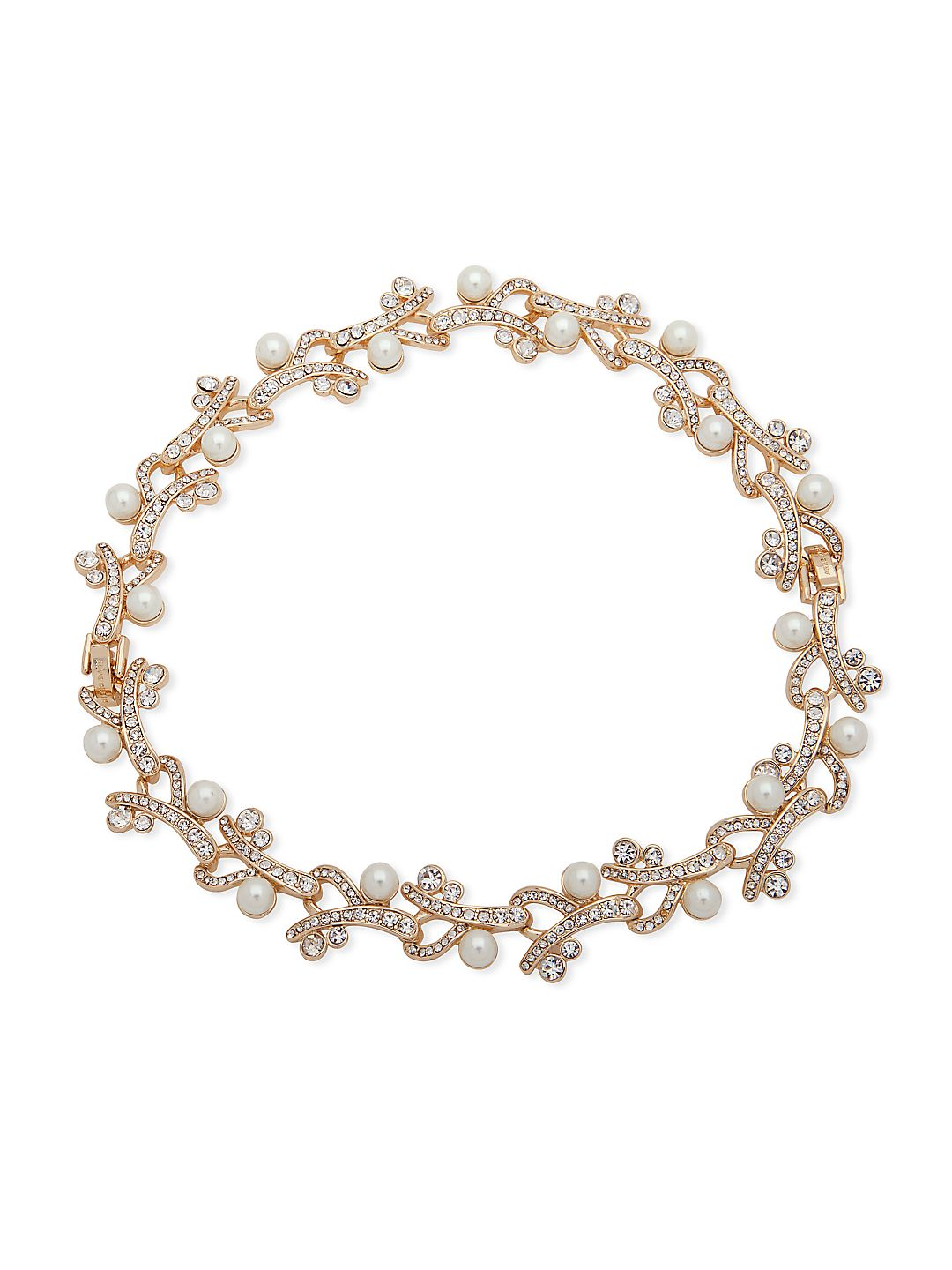 Faux Pearl & Crystal Statement Necklace