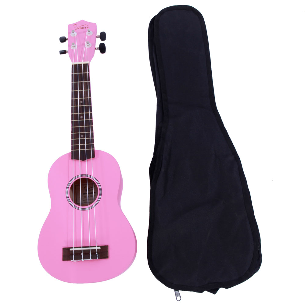 "Glarry 21"" Acoustic Beginners Children's Basswood Toy Ukulele Musical Hawaiian Guitar with Bag Multi-color"