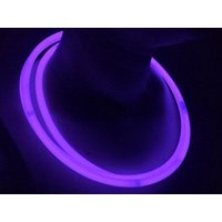 "Glow Sticks Bulk Wholesale Necklaces, 100 22"" Glow Stick Necklaces Purple +100 FREE Glow Bracelets BONUS, Glow With Us Brand"