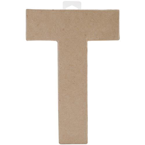 """Paper Mache Letter 8""""X5-1/2""""-Letter T"""