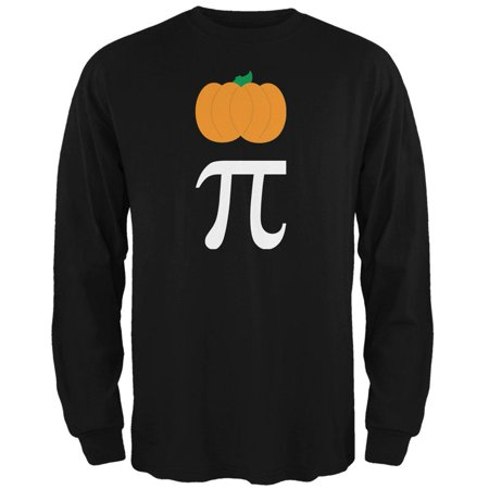 Halloween Math Pi Costume Pumpkin Day Mens Long Sleeve T Shirt (Halloween Days Out)