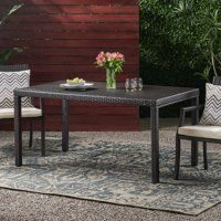 Fiesta Outdoor Wicker Rectangular Dining Table (TABLE ONLY), Multibrown
