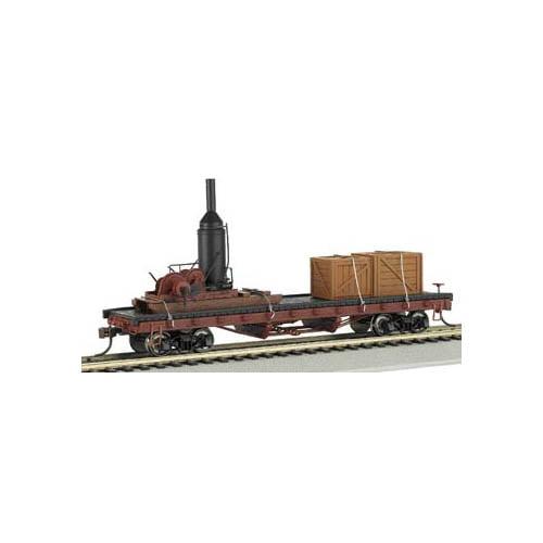 Bachmann 18301 ACF Log Car Skidder w/Crates HO Multi-Colored