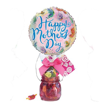 Happy Mothers Day Pink Candy Vase