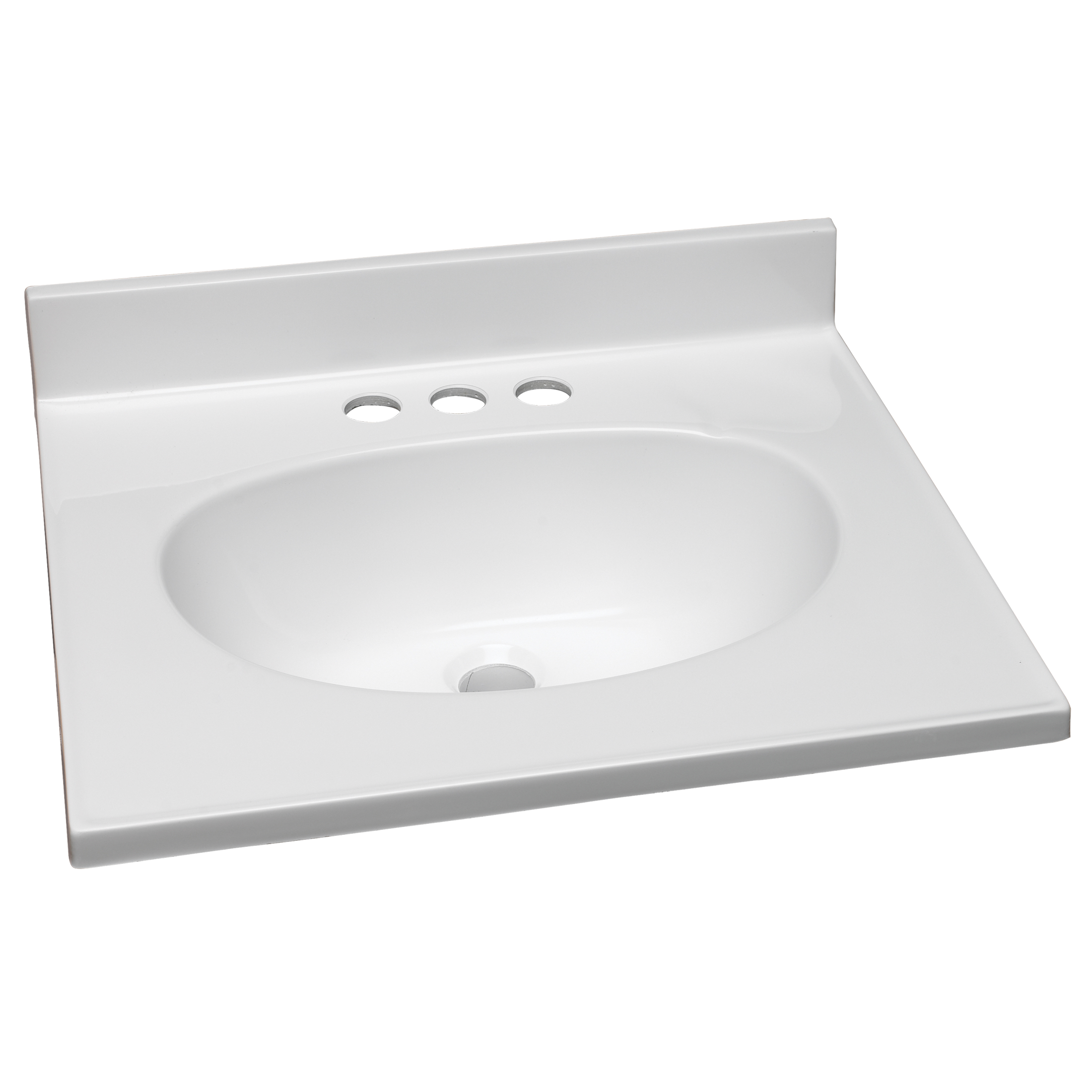 Design House 551242 19-Inch by 17-Inch Marble Vanity Top/Single Bowl, Solid White