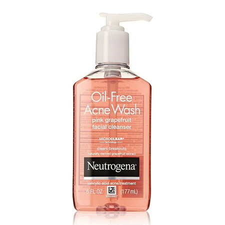 Neutrogena Oil Free Acne Wash Facial Cleanser  Pink Grapefruit   6 Oz  6 Pack