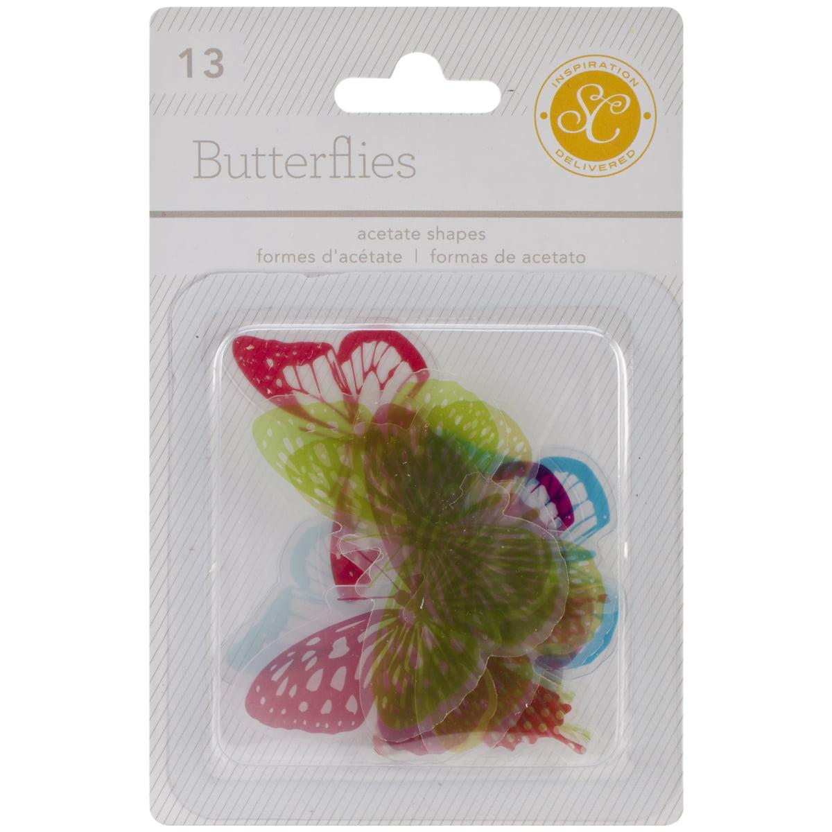 Lemonlush Die-Cut Acetate Shapes 13/Pkg-Butterflies