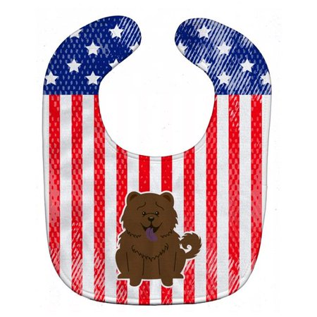 Carolines Treasures BB3136BIB Patriotic USA Chow Chow Chocolate Baby Bib - image 1 of 1